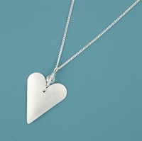 Picture of Aluminium Slim Heart & Crystal Necklace JS1b-A