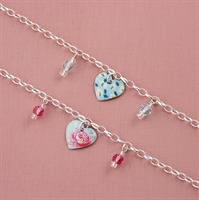 Picture of Child's Heart & Crystal Bracelet