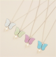 Picture of Bridesmaid Butterfly & Pearl Pendant