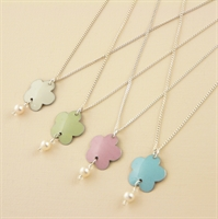 Picture of Bridesmaid Flower & Pearl Pendant