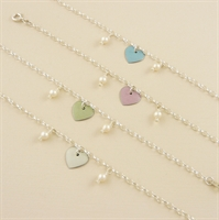 Picture of Bridesmaid Heart & Pearls Bracelet