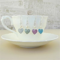 Picture of Bridesmaid Heart & Pearl Earrings