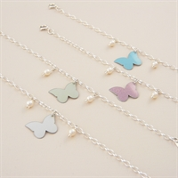 Picture of Bridesmaid Butterfly & Pearls Bracelet