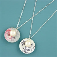 Picture of Disc & Pearl Necklace