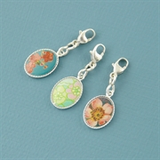 Picture of Bright Floral Silver Mount Charm