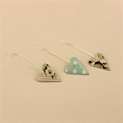 Picture of Slim Heart Earrings (Long Earwires)