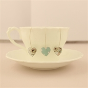 Picture of Round Heart Earrings (Medium Earwire)