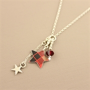 Picture of Christmas Tartan Star Charm Necklace