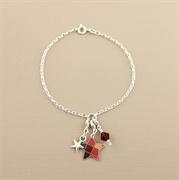Picture of Christmas Tartan Star Charm Bracelet