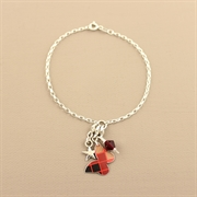 Picture of Christmas Tartan Butterfly Charm Bracelet
