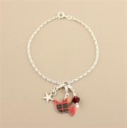 Picture of Christmas Tartan Dove Charm Bracelet