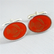 Picture of Red Thistle Cufflinks (Silver Plate)