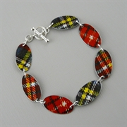 Picture of Tartan Oval Link Bracelet