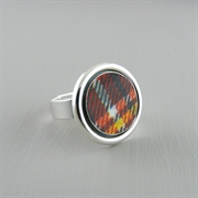 Picture of Tartan Silver Mount Adjustable Ring