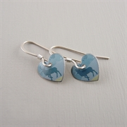 Picture of Scottish Stag Round Heart Earrings