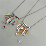 Picture of Long Wire & Five Leaves Necklace (Oxidised)