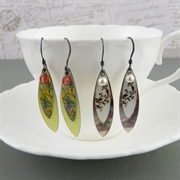 Picture of Wide Leaves Earrings (Oxidised)