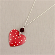 Picture of Spotty Round Heart Necklace with Crystal