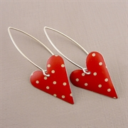 Picture of Spotty Medium Heart Earrings (medium earwire)