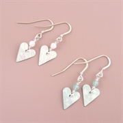 Picture of Summer Sorbet Slim Heart Earrings with Crystal