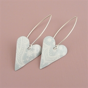 Picture of Summer Sorbet Medium Heart Earrings (medium earwire)