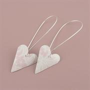 Picture of Summer Sorbet Medium Heart Earrings (long earwire)