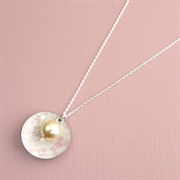 Picture of Summer Sorbet Domed Disc & Pearl Necklace