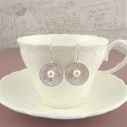 Picture of Summer Sorbet Domed Disc & Pearl Earrings