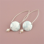 Picture of Summer Sorbet Disc & Pearl Earrings