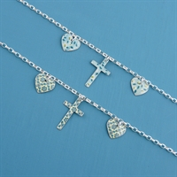 Picture of Cross & Hearts Bracelet