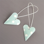 Picture of Spotty Medium Heart Earrings (Long Earwires)