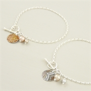 Picture of Disc & Pearl Toggle Bracelet
