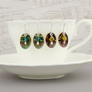 Picture of Christmas Oval & Crystal Earrings