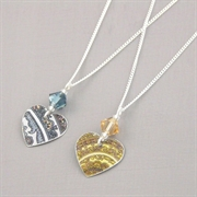 Picture of Christmas Small Round Heart & Crystal Necklace