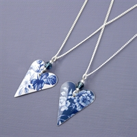 Picture of Denim Heart & Crystal Necklace