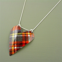 Picture of Tartan Large Heart Necklace