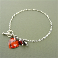 Picture of Tartan Small Round Heart Toggle Bracelet