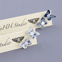 Picture of Denim Butterfly Studs JE80-de