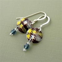 Picture of Tartan Disc & Crystal Earrings