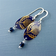 Picture of Thistle Oval & Crystal Earrings