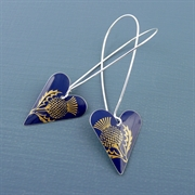 Picture of Thistle Medium Heart Earrings (long earwires)
