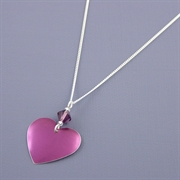 Picture of Amethyst Heart Necklace