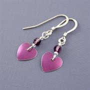 Picture of Amethyst Heart Earrings