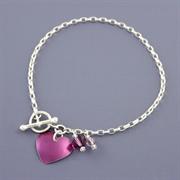 Picture of Amethyst Heart Bracelet