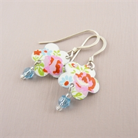 Picture of Pretty Floral Flower & Crystal Earrings SP-E57