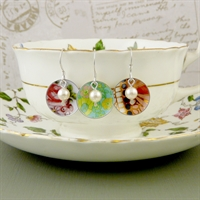 Picture of Disc & Pearl Earrings VS-E45