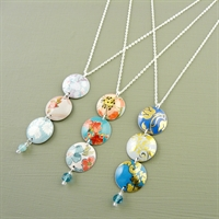 Picture of Three Disc & Crystal Necklace