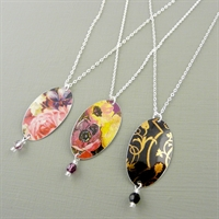 Picture of Oval & Crystal Necklace