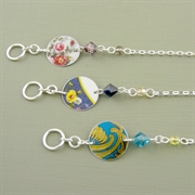 Picture of Disc & Crystal Toggle Bracelet