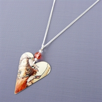 Picture of Fairy Heart Pendant with Crystal
